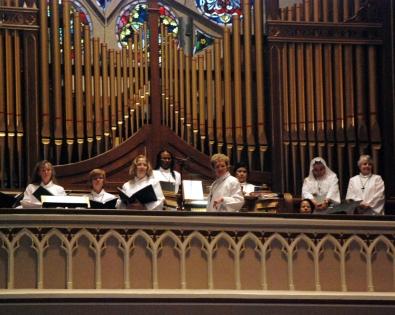Choir during The Annunciation Mass